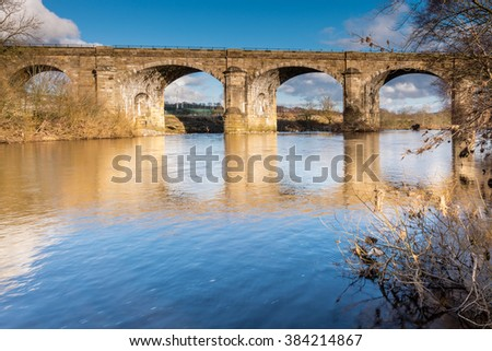 Haltwhistle Railway Viaduct / Haltwhistle Railway Viaduct also known as Alston Arches was constructed in 1851 with six skew arches to cross the South Tyne River