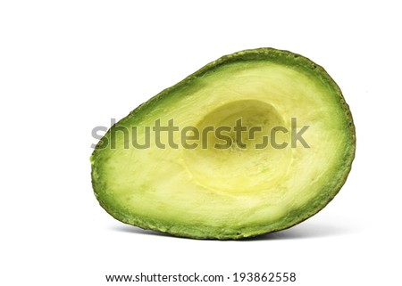 halved avocado  - stock photo
