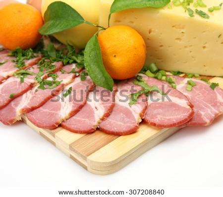 ham and cheese - stock photo
