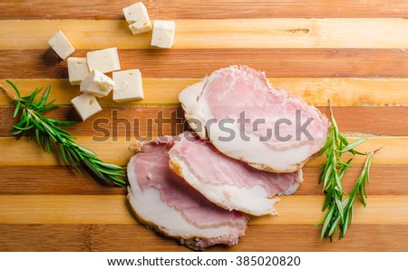 ham and cheese - stock photo