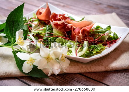 Ham and Salad Appetizer