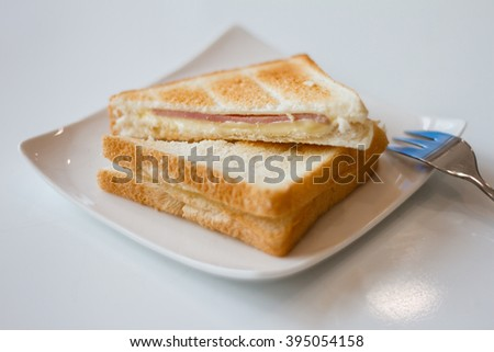 Ham Cheese Sandwitch - stock photo
