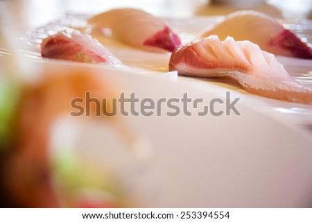 Hamaji sushi - stock photo