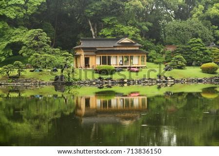 HAMARIKYU GARDENS TOKYO JAPAN 20 May Stock Photo (Royalty Free ...