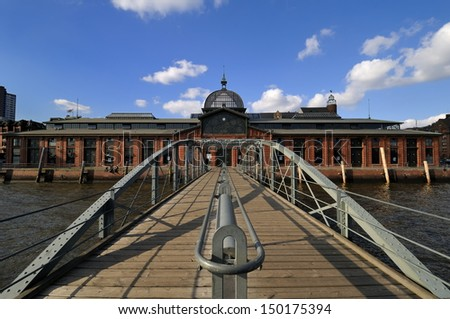 Hamburg, Germany, Fish Auction Hall - stock photo
