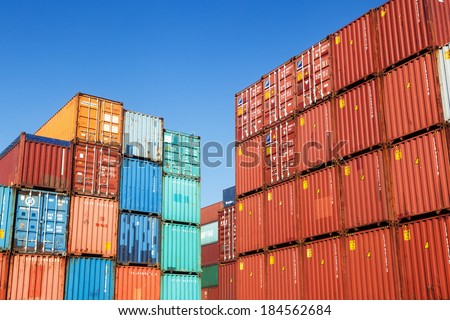 industrial port container yard stock photo 429181717 shutterstock. Black Bedroom Furniture Sets. Home Design Ideas