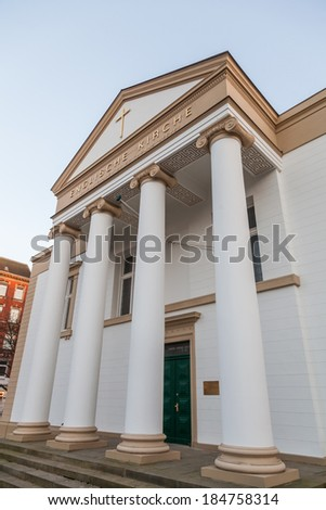 HAMBURG, GERMANY - MARCH 09: English Church on March 09, 2014 in Hamburg. The English merchants guild received first non Lutheran faith community in Hamburg, the right to pursue their own denomination