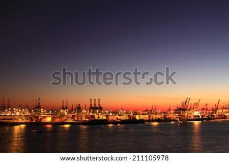 Hamburg Hafen - stock photo