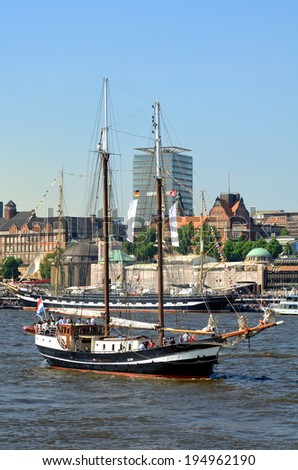 Hamburg harbor, Germany - stock photo