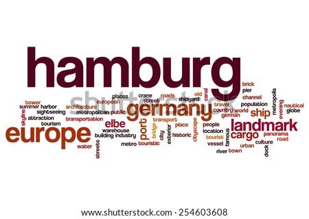 Hamburg word cloud concept - stock photo