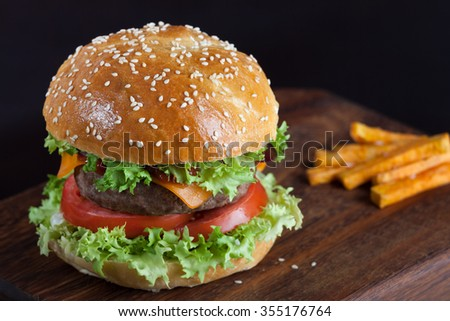 Hamburger. - stock photo
