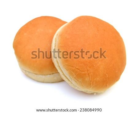 Hamburger bun isolated on white background  - stock photo