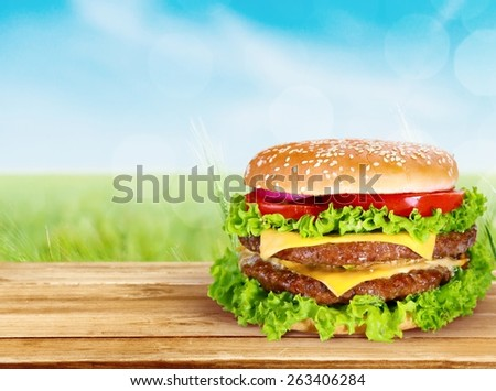 Hamburger, Burger, Meat.