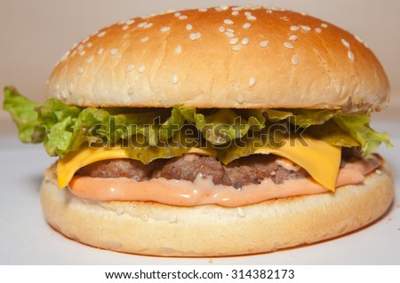 hamburger, burger, menu for cafes and fast-food restaurant