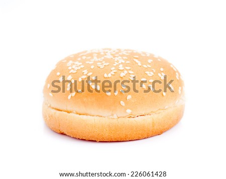 Hamburger closeup on brown background  - stock photo
