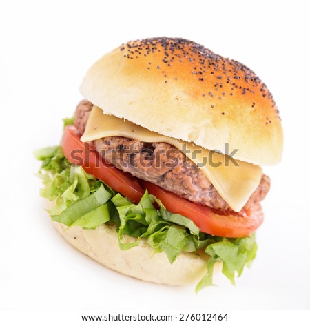 hamburger islated on white background