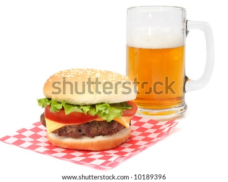 hamburger on wrapping paper