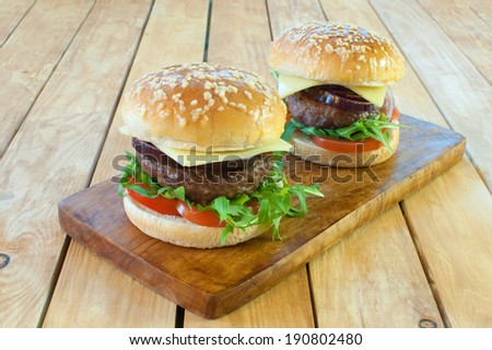 Hamburgers  - stock photo