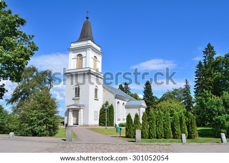 Hamina, Finland. The medieval church of St. Mary