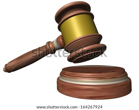 hammer auction justice crime - stock photo