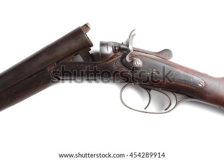 Hammer gun isolated on white background - stock photo