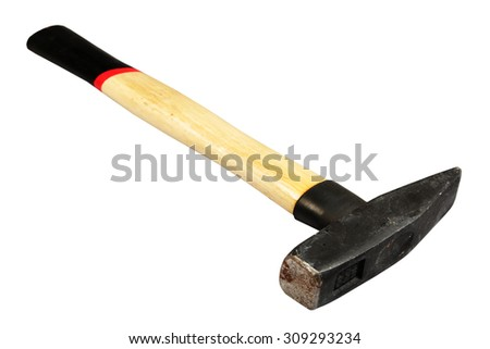 Hammer it is isolated on a white background - stock photo