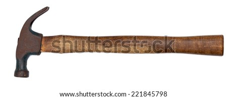 Hammer on a white background. - stock photo