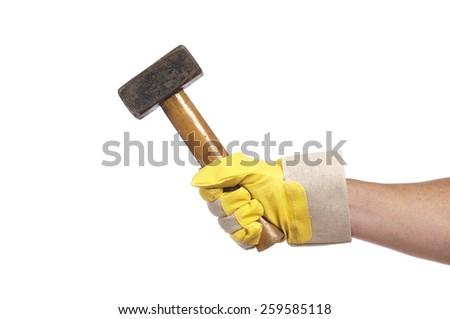 hammering  - stock photo