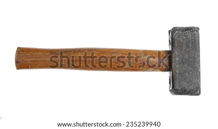 hammers big large medium small wooden handle working vintage isolated construction steel rusted - stock photo