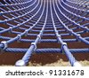 hammock net - stock photo