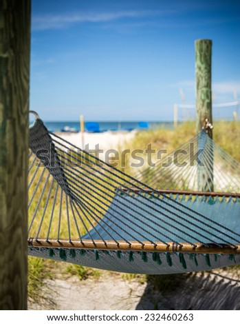 Hammock on St. Pete beach, Florida, USA