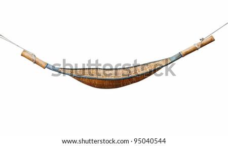 hammock on white background - stock photo