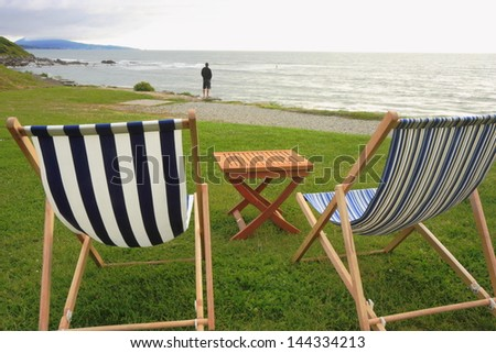 Hammocks in France seashore