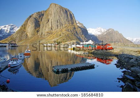 Hamnoy on a calm winterday