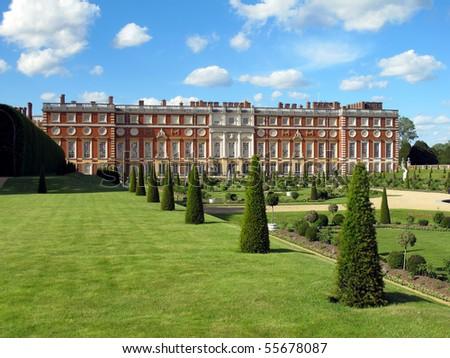 Hampton Court Palace, England - stock photo