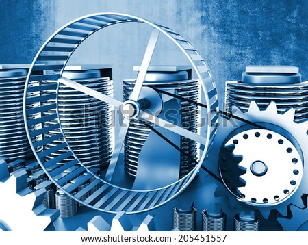 hamster wheel power 3d image