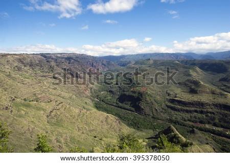 Hanapepe Valley Lookout, Kauai, Hawaii - stock photo