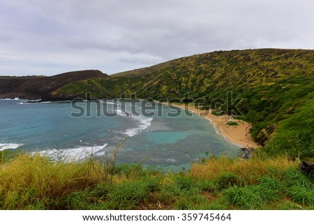 Hanauma Bay Nature Preserve in Oahu, Hawaii