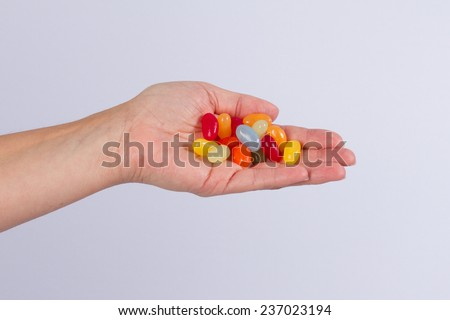Hand and candy