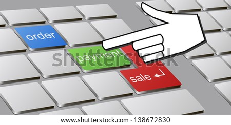 Hand and computer keyboard are shown in the image.
