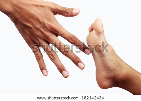 hand and foot as conflict sign
