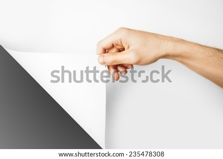Hand and paper - stock photo