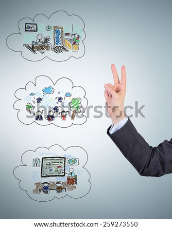 hand and stage life, study, release and prestigious job - stock photo