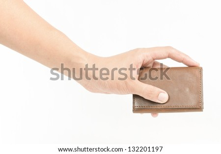 Hand and wallet,