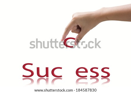 Hand and word Success concept.  - stock photo