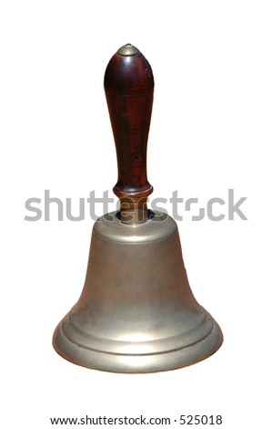 Hand Bell isolated on a white background - stock photo