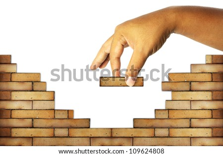 Building A House man building house stock images, royalty-free images & vectors