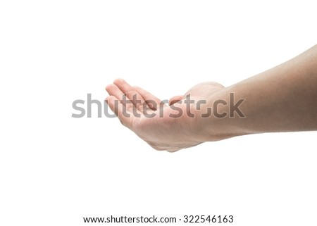 hand care sign isolated on white background