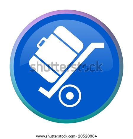 hand cart with luggage on it - stock photo