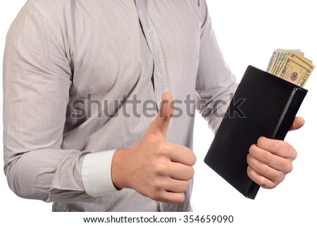 hand, coold, notepad with dollars, money
